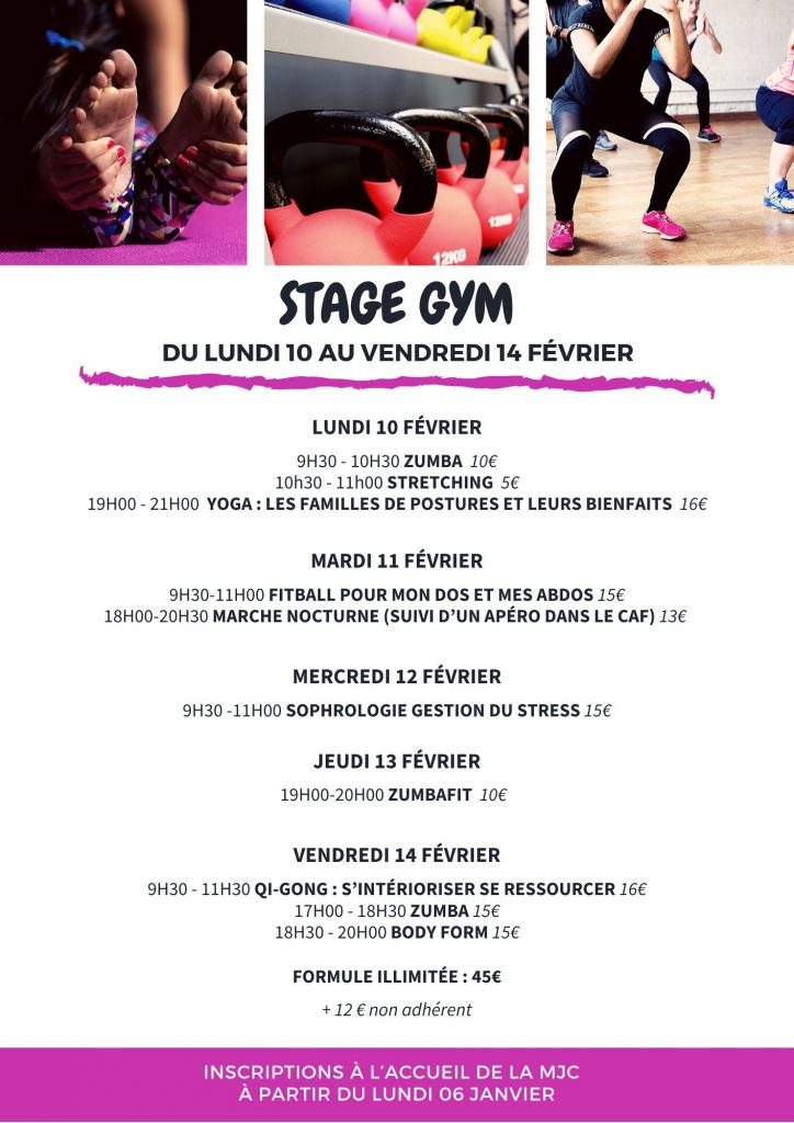 Stage Gym adultes