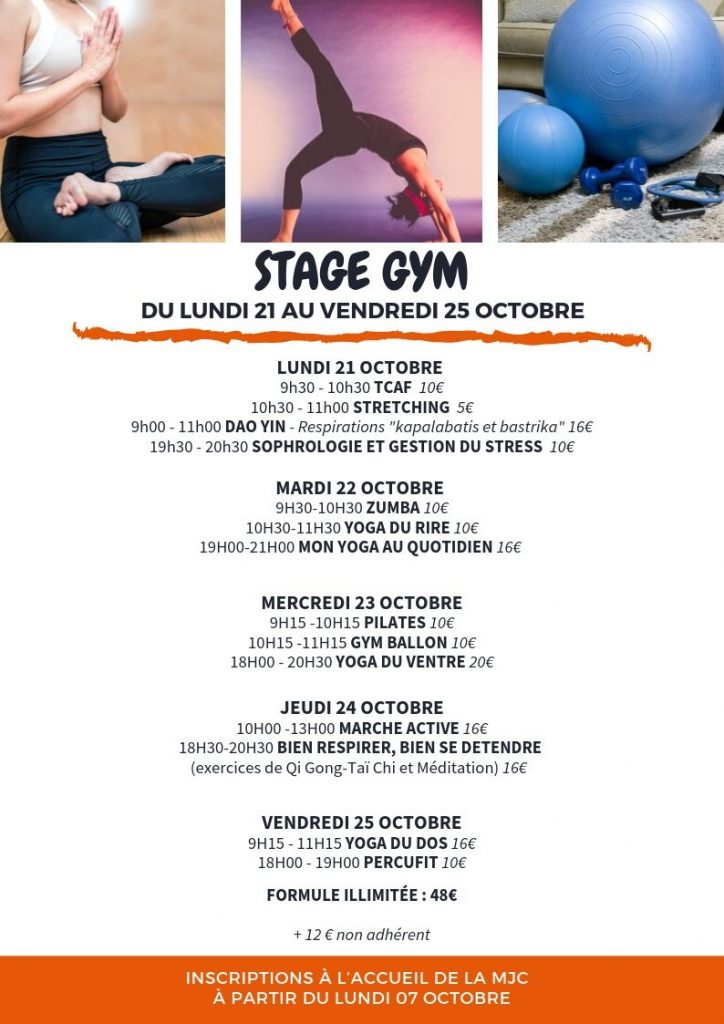 Stage gym octobre